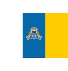 Flag of canary islands vector
