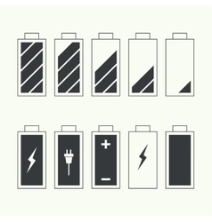 Icons battery charge indicator vector