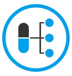 Pharmacy distribution icon vector