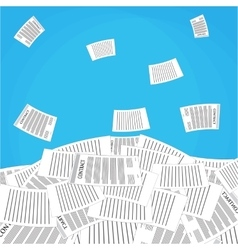 Pile of office papers vector