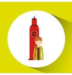 Visit london design vector