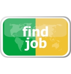 find job words on web button icon isolated vector image