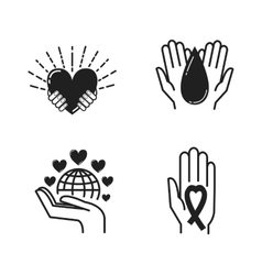 Donate hand vector