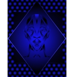 Abstract human head vector image