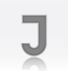 Alphabet J vector image