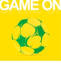 Artistic soccer ball graffiti drawing vector