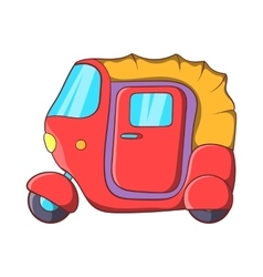 Auto rickshaw icon in cartoon style vector