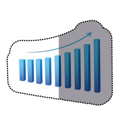 Blue statistic graph business data vector