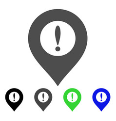 Caution marker flat icon vector