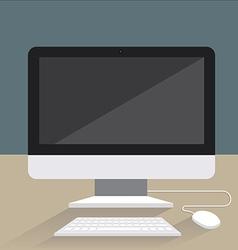 ComputerFlatIcon vector image