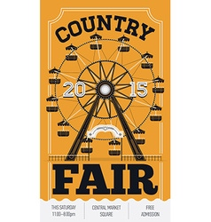 Country fair poster vector
