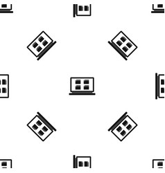 desktop pattern seamless black vector image