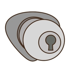 Door handle security isolated icon vector