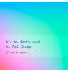 Elegant blue blurred background for web design vector image vector image