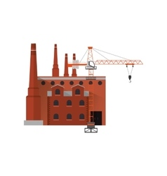 Factory and industrial tower crane icon vector