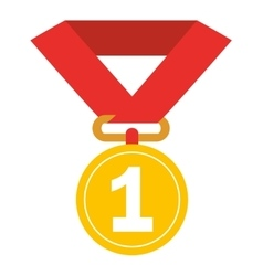First place medal isolated icon design vector