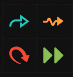 Flat modern arrows vector