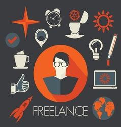 freelance leadership teamwork2 resize vector image vector image