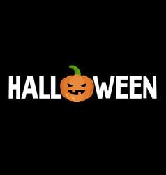 halloween conceptual sign jack olantern scary vector image vector image