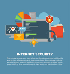 internet security and computer malware digital vector image vector image