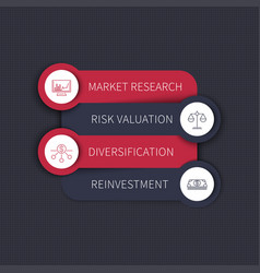 investment strategy infographic elements vector image vector image