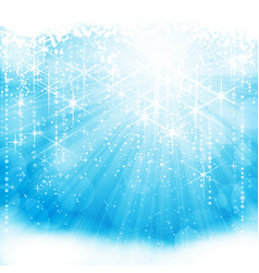 light blue christmas winter background vector image vector image