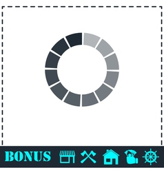 Load bar icon flat vector image vector image