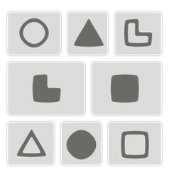 Monochrome icons with socionic symbols vector
