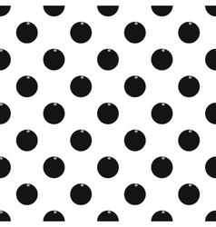 Orange pattern simple style vector image vector image
