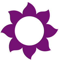 purple petals forming flower icon vector image vector image