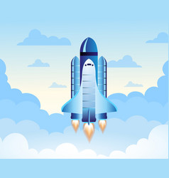 rocket launch new project start up concept in vector image vector image