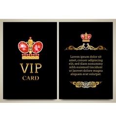 royal card vector image