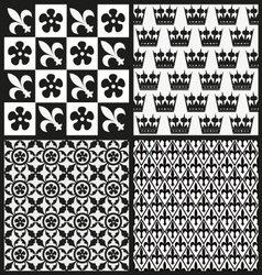 Set of medieval patterns vector image vector image