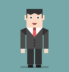 Smiling businessman standing vector image vector image