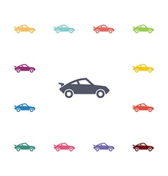 Sport car flat icons set vector