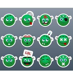 Stickers frankenstein vector