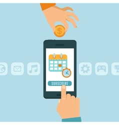 Subscription business model vector image vector image