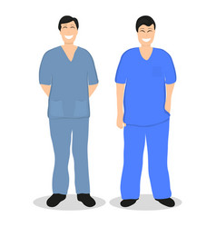 Two doctors men flat design vector