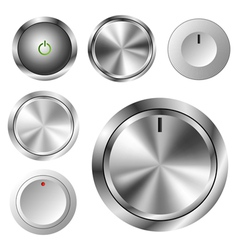 Volume knob set vector image