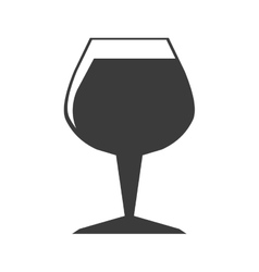 Wine in glass cup icon vector