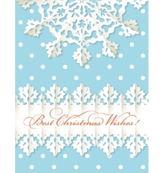 Christmas origami snowflake background vector