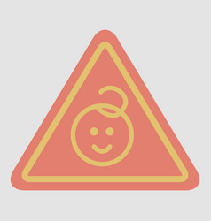 Kids warning road sign vector