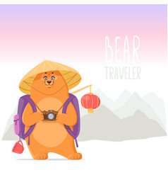 bear in china vector image