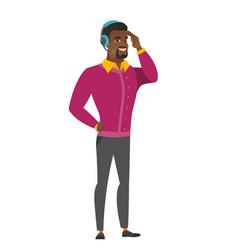 Customer service operator in headset vector