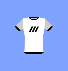 The sports t-shirt icon shirt and player symbol vector
