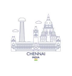 Chennai city skyline vector
