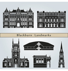 Blackburn landmarks and monuments vector