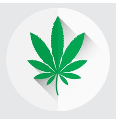 Isolated green marijuana leaf symbol eps10 vector