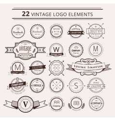 Design elements vintage retro style arrows vector