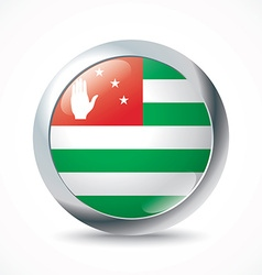 Abkhazia flag button vector